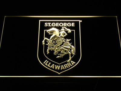 St. George Illawarra Dragons Type 2 LED Neon Sign - Yellow - SafeSpecial
