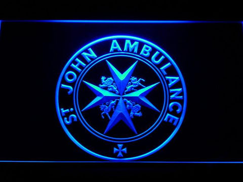 St John Ambulance LED Neon Sign - Blue - SafeSpecial