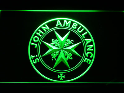 St John Ambulance LED Neon Sign - Green - SafeSpecial
