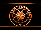 St John Ambulance LED Neon Sign - Orange - SafeSpecial