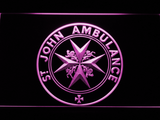 St John Ambulance LED Neon Sign - Purple - SafeSpecial