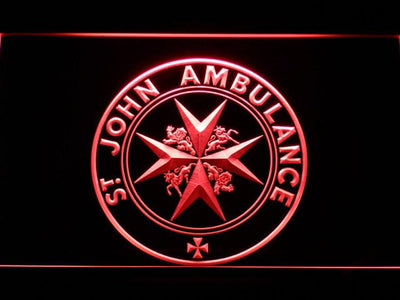 St John Ambulance LED Neon Sign - Red - SafeSpecial