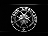 St John Ambulance LED Neon Sign - White - SafeSpecial