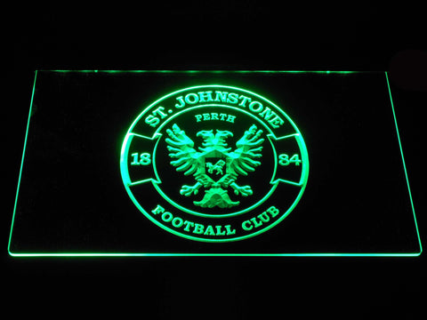 Image of St Johnstone F.C. LED Neon Sign - Green - SafeSpecial