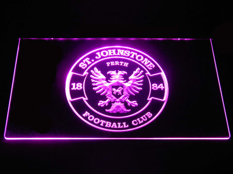 Image of St Johnstone F.C. LED Neon Sign - Purple - SafeSpecial