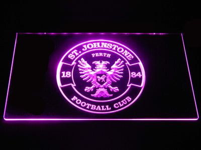 St Johnstone F.C. LED Neon Sign - Purple - SafeSpecial