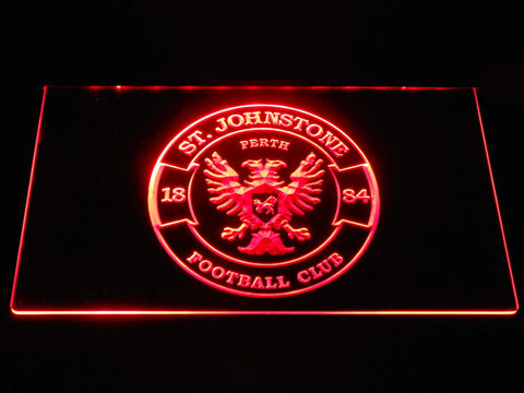 Image of St Johnstone F.C. LED Neon Sign - Red - SafeSpecial