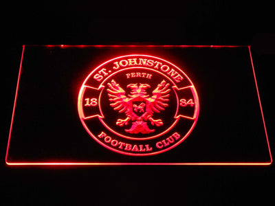 St Johnstone F.C. LED Neon Sign - Red - SafeSpecial