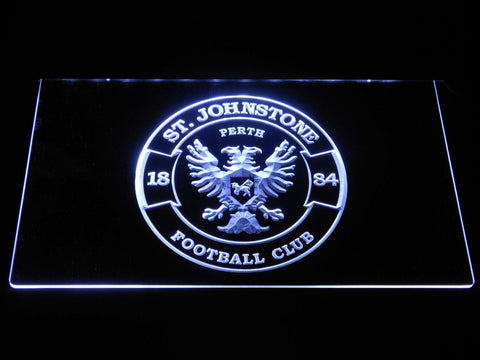 Image of St Johnstone F.C. LED Neon Sign - White - SafeSpecial