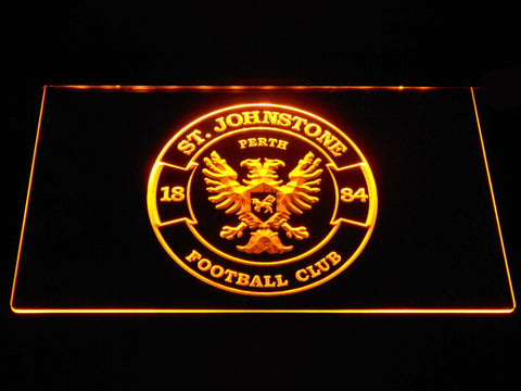 Image of St Johnstone F.C. LED Neon Sign - Yellow - SafeSpecial