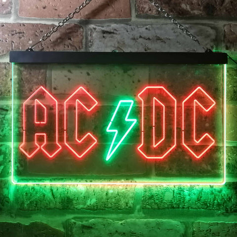 AC/DC Logo 1 Neon-Like LED Sign - Dual Color