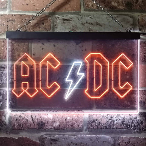 Image of AC/DC Logo 1 Neon-Like LED Sign - Dual Color