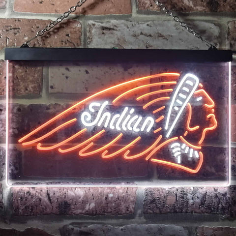 Indian Chief Neon-Like LED Sign - Dual Color