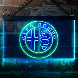 Alfa Romeo Neon-Like LED Sign - Dual Color