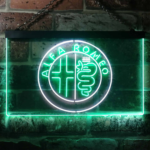 Image of Alfa Romeo Neon-Like LED Sign - Dual Color