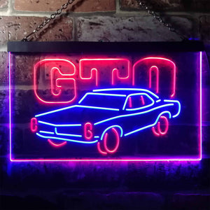 Pontiac GTO Classic Neon-Like LED Sign - Dual Color