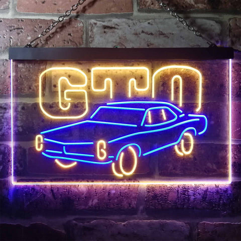 Image of Pontiac GTO Classic Neon-Like LED Sign - Dual Color