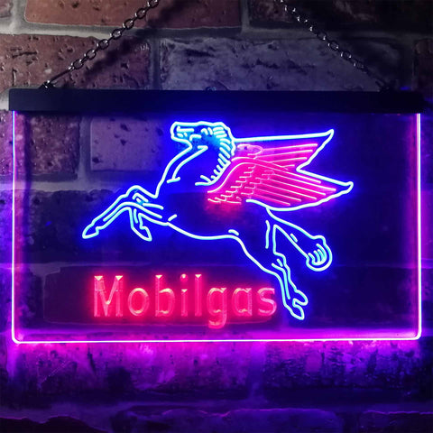 Image of Mobilgas Neon-Like LED Sign - Dual Color