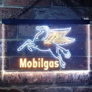 Mobilgas Neon-Like LED Sign - Dual Color