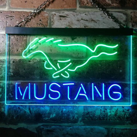 Image of Ford Mustang Horse 2 Neon-Like LED Sign - Dual Color
