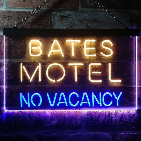 Bates Motel No Vacancy Neon-Like LED Sign - Dual Color