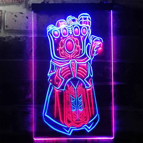 Avengers Infinity Gauntlet Neon-Like LED Sign - Dual Color