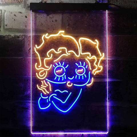 Image of Betty Boop Neon-Like LED Sign - Dual Color