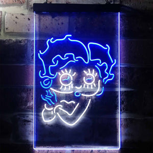 Betty Boop Neon-Like LED Sign - Dual Color