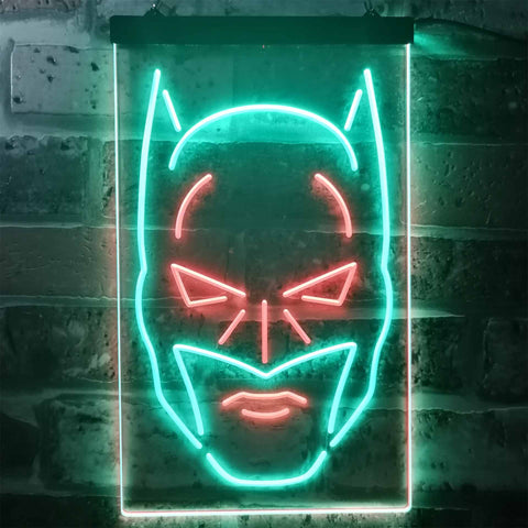 Batman Face Neon-Like LED Sign - Dual Color