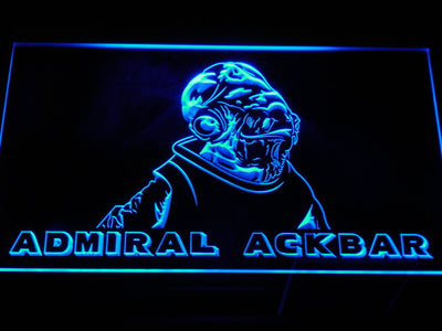 Star Wars Admiral Ackbar LED Neon Sign - Blue - SafeSpecial