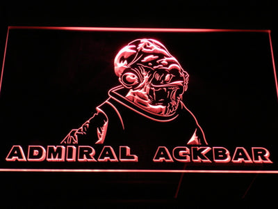 Star Wars Admiral Ackbar LED Neon Sign - Red - SafeSpecial