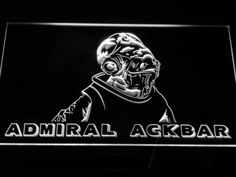 Image of Star Wars Admiral Ackbar LED Neon Sign - White - SafeSpecial