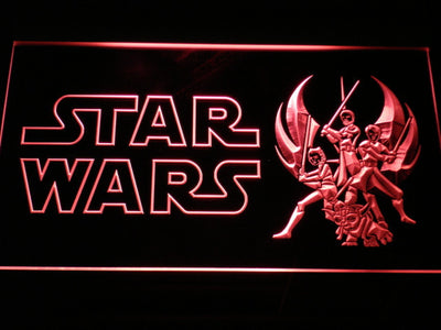Star Wars Ahsoka, Obi-Wan, Yoda & Anakin LED Neon Sign - Red - SafeSpecial