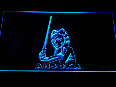 Star Wars Ahsoka Tano LED Neon Sign - Blue - SafeSpecial