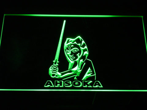 Image of Star Wars Ahsoka Tano LED Neon Sign - Green - SafeSpecial