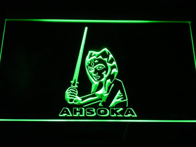 Star Wars Ahsoka Tano LED Neon Sign - Green - SafeSpecial
