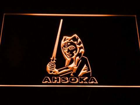 Image of Star Wars Ahsoka Tano LED Neon Sign - Orange - SafeSpecial