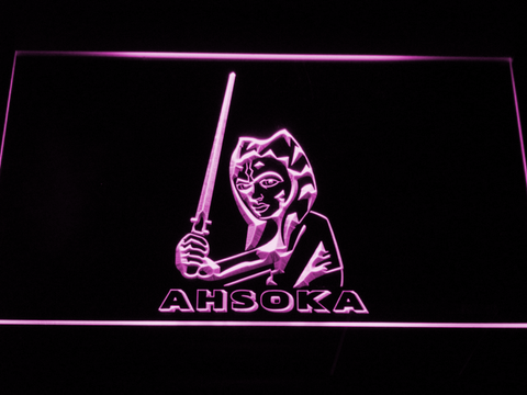 Image of Star Wars Ahsoka Tano LED Neon Sign - Purple - SafeSpecial