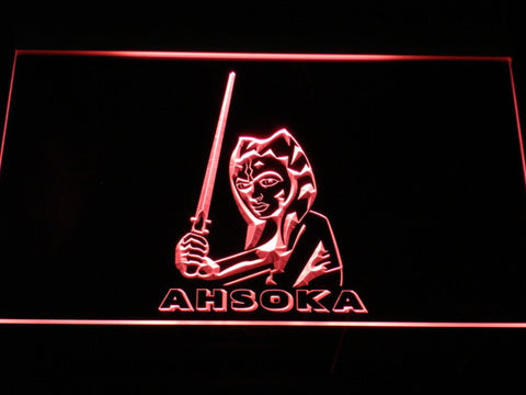 Image of Star Wars Ahsoka Tano LED Neon Sign - Red - SafeSpecial