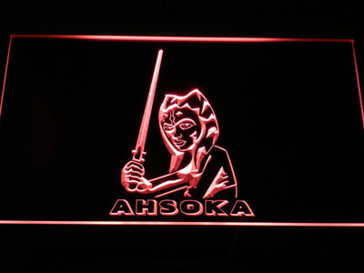 Star Wars Ahsoka Tano LED Neon Sign - Red - SafeSpecial