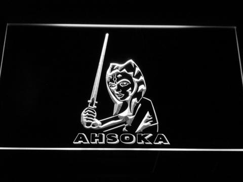 Image of Star Wars Ahsoka Tano LED Neon Sign - White - SafeSpecial