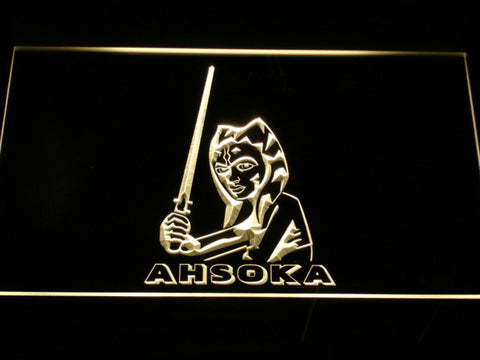 Image of Star Wars Ahsoka Tano LED Neon Sign - Yellow - SafeSpecial