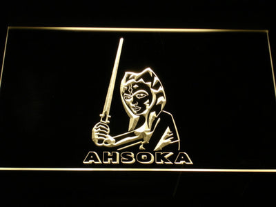 Star Wars Ahsoka Tano LED Neon Sign - Yellow - SafeSpecial