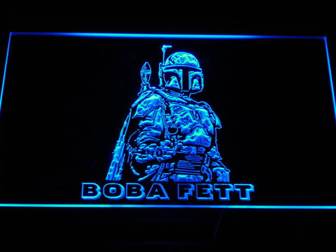 Image of Star Wars Boba Fett LED Neon Sign - Blue - SafeSpecial