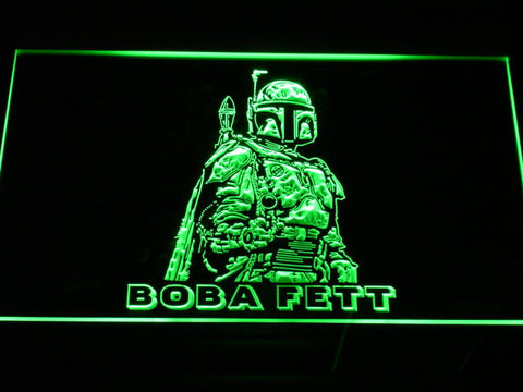 Image of Star Wars Boba Fett LED Neon Sign - Green - SafeSpecial