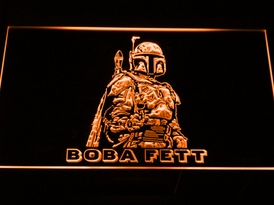Star Wars Boba Fett LED Neon Sign - Orange - SafeSpecial