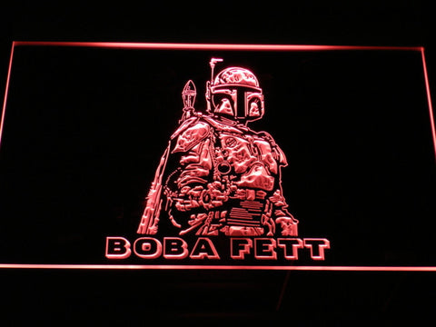 Star Wars Boba Fett LED Neon Sign - Red - SafeSpecial