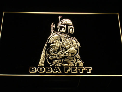 Star Wars Boba Fett LED Neon Sign - Yellow - SafeSpecial