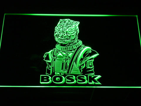 Image of Star Wars Bossk LED Neon Sign - Green - SafeSpecial