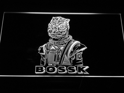 Star Wars Bossk LED Neon Sign - White - SafeSpecial